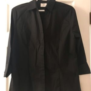 Black blouse, size medium